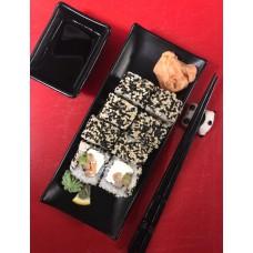 Sake Kunsei Sezam Roll -kupināts lasis,avokado vai gurķis,sezzama sēklas